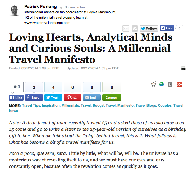 A Millennial Travel Manifesto – The Experiment